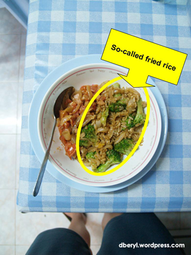 The so-called fried rice