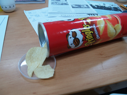 Pringles on my office table