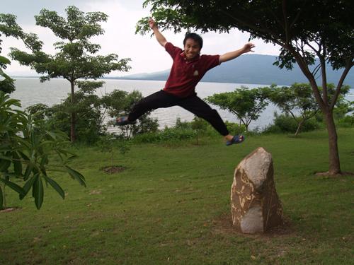 Bob jumping for joy!